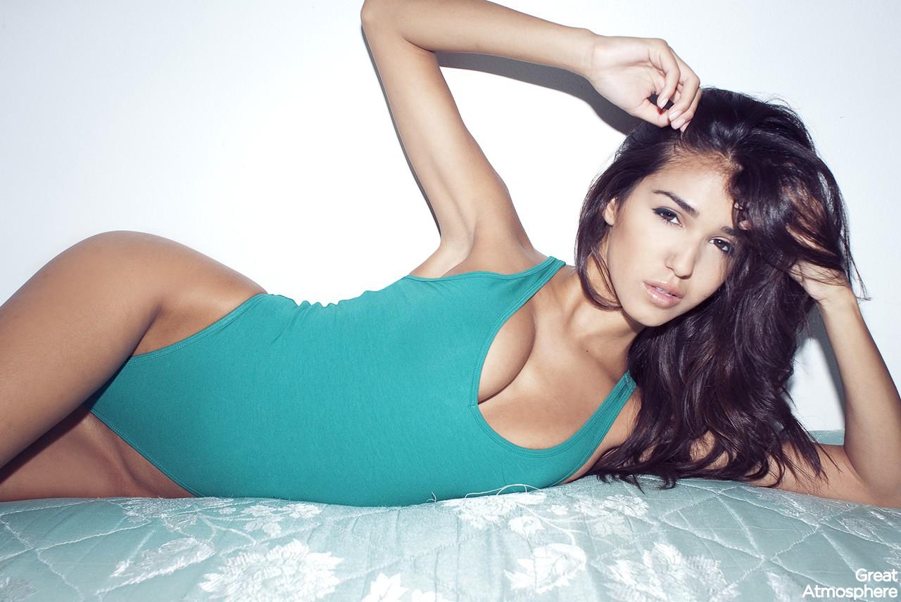 Skinny lingerie model nude