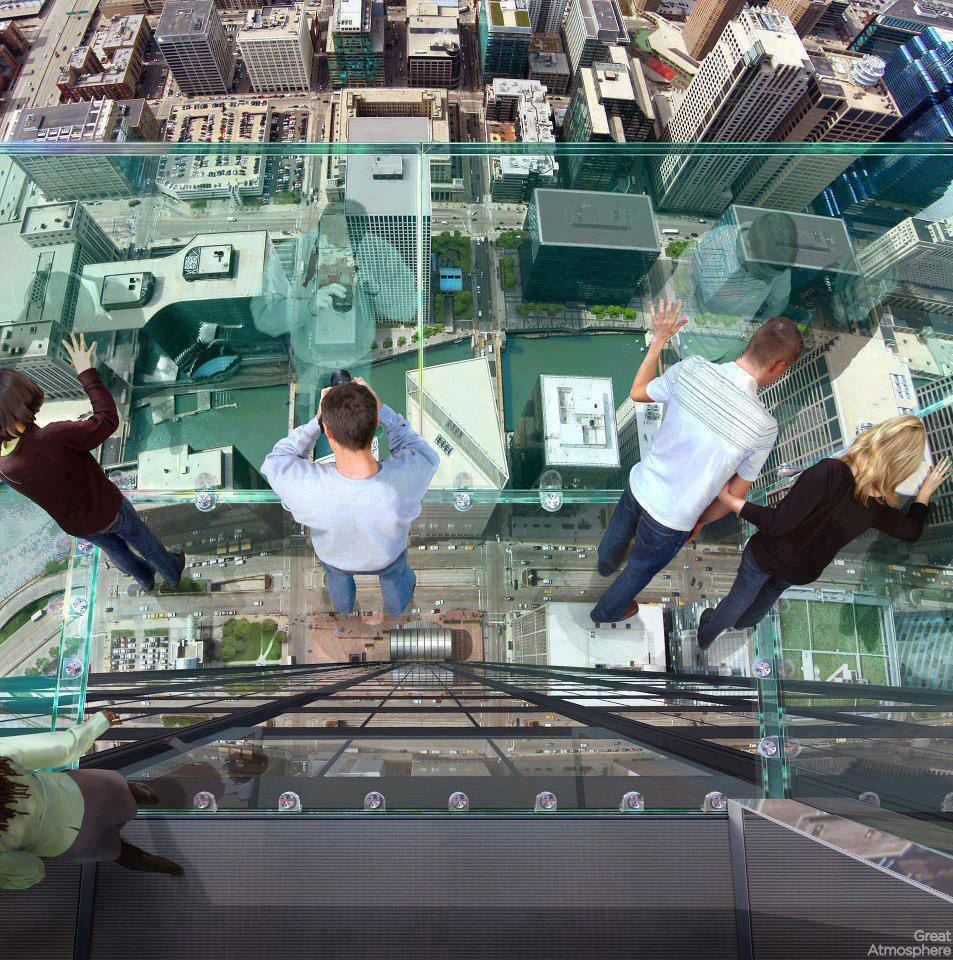 The Sears Tower transparent balcony