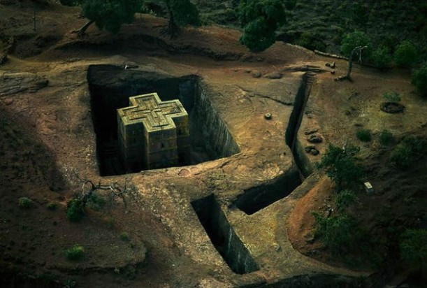 aerial-africa-8-The-underground-church-Bet-Giyorgis-Lalibla-Ethiopia