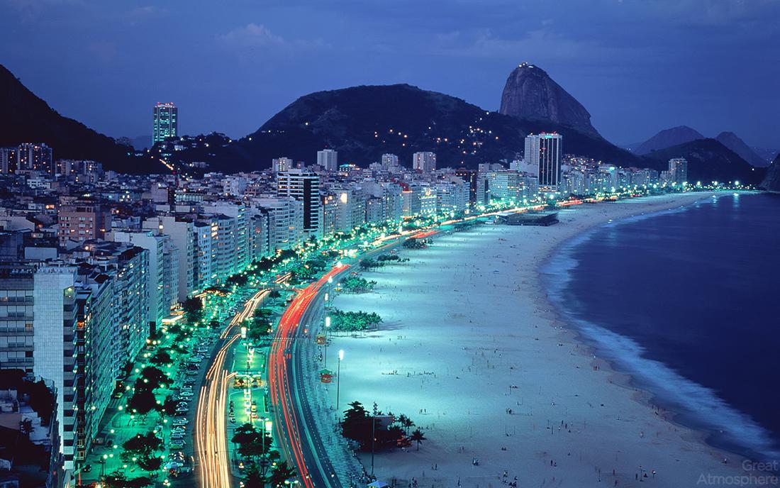 Praia de Copacabana no Rio de Janeiro, Brasil (Copacabana Beach