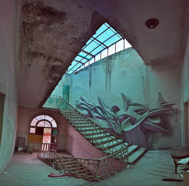 Italian graffiti writer painter and sculptor manuel di rita aka