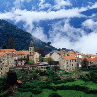 Beautiful, Hillside Village, Aregno, Corsica, France
