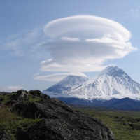 Beautiful Lenticular clouds, Landscape on Great Atmosphere