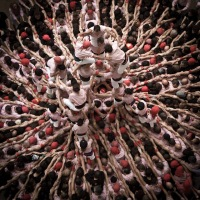 "The human towers ""castells""  in Catalonia, Spain"