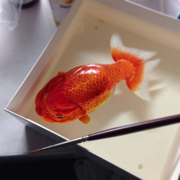 Three Dimensional Animals Painted in Layers of Resin by Keng Lye