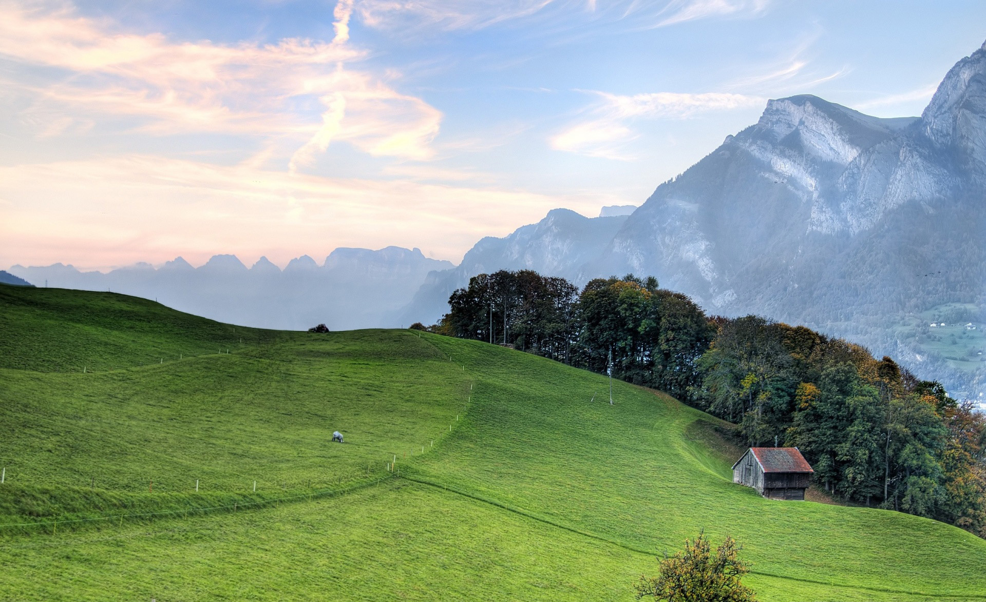 mountain-pasture-wallpaper-nature-landscapes-photography-beautiful-house-green-hills