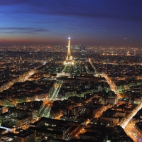 Amazing view, Paris, France, at night.
